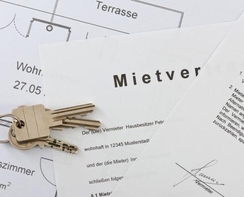 Mietverträge werden für Kunden von Wilbrand Immobilien erstellt.